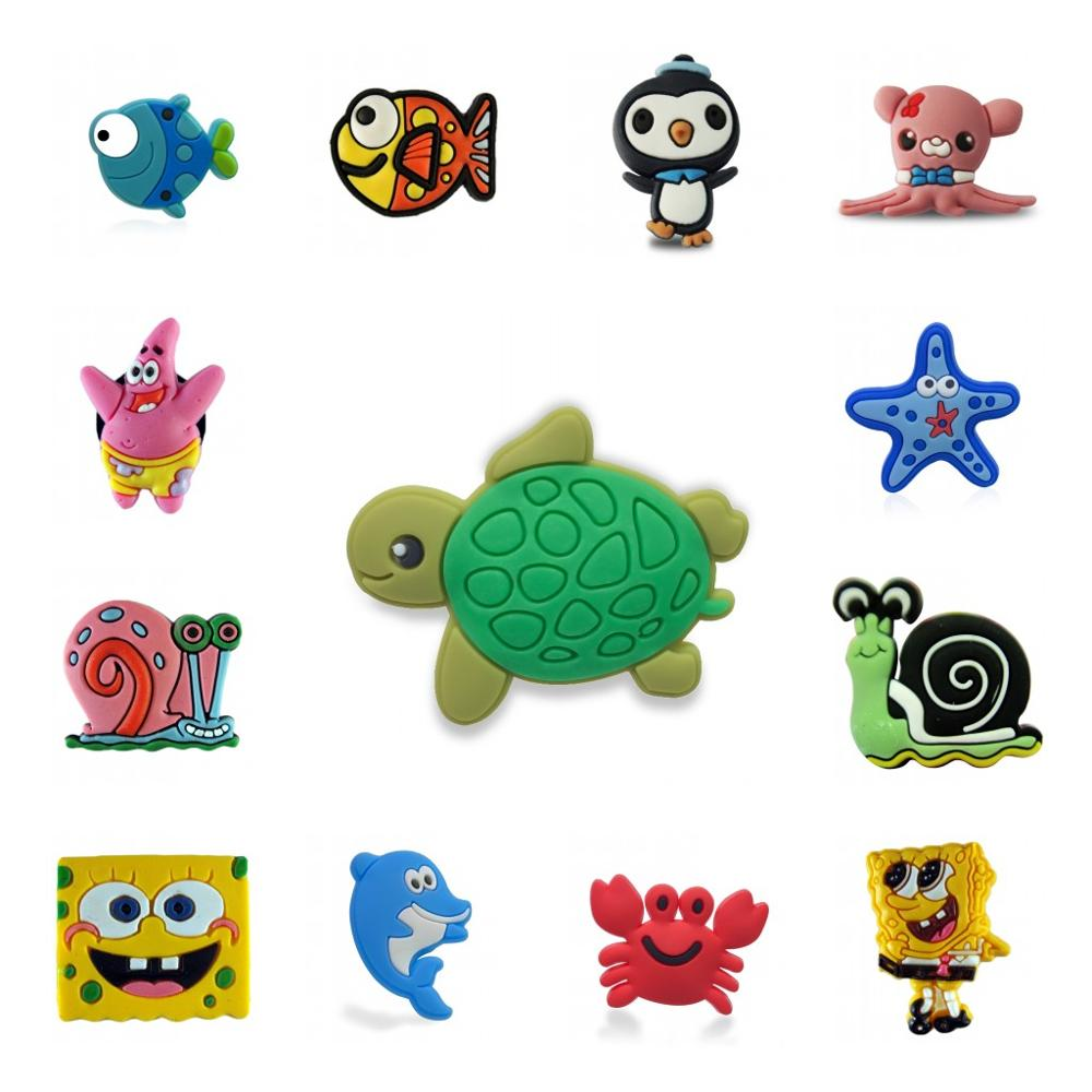 Single Sale 1pc Sponge Starfish Snail PVC Shoe Charms Shoe Accessories Shoe Buckles Croc Decorations Jibz Kid's X-mas Gift