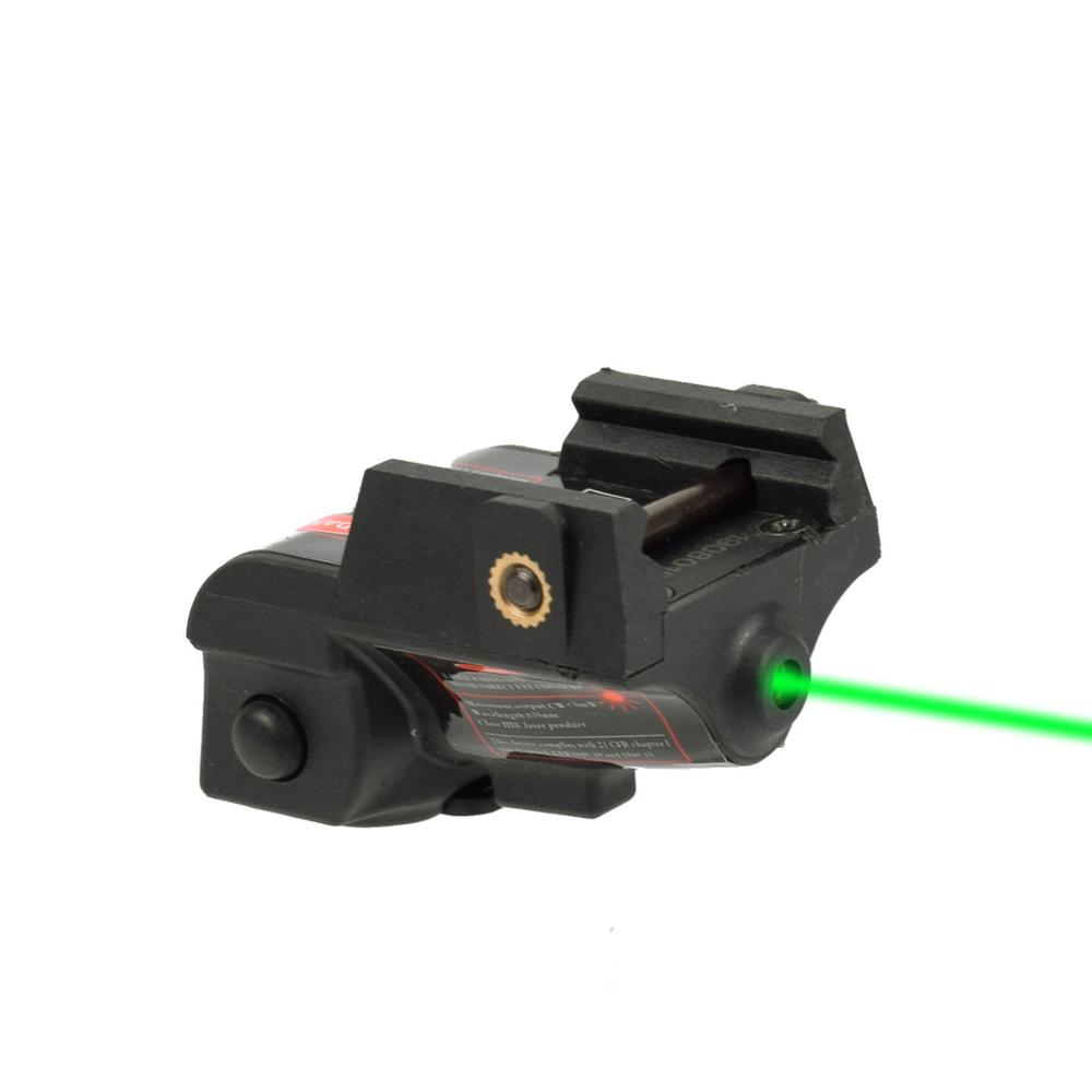 Rechargeable Subcompact Pistol Glock 17 18c 19 Green Laser Sight Tactical Weapons Gun Laser Picatinny Rail Aiming Lazer Pointer-0