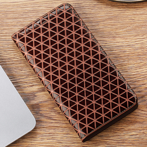Image 2 - Grid Genuine Leather Flip Case For Lenovo P1 P1M P2 Z5 Z5S Z6 S5 K5 K5S A5 K6 K9 K10 A6 Lite Note Play Pro Plus Power Cover
