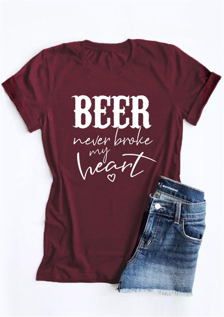 """Beer Never Broke My Heart"" Graphic T-Shirt"
