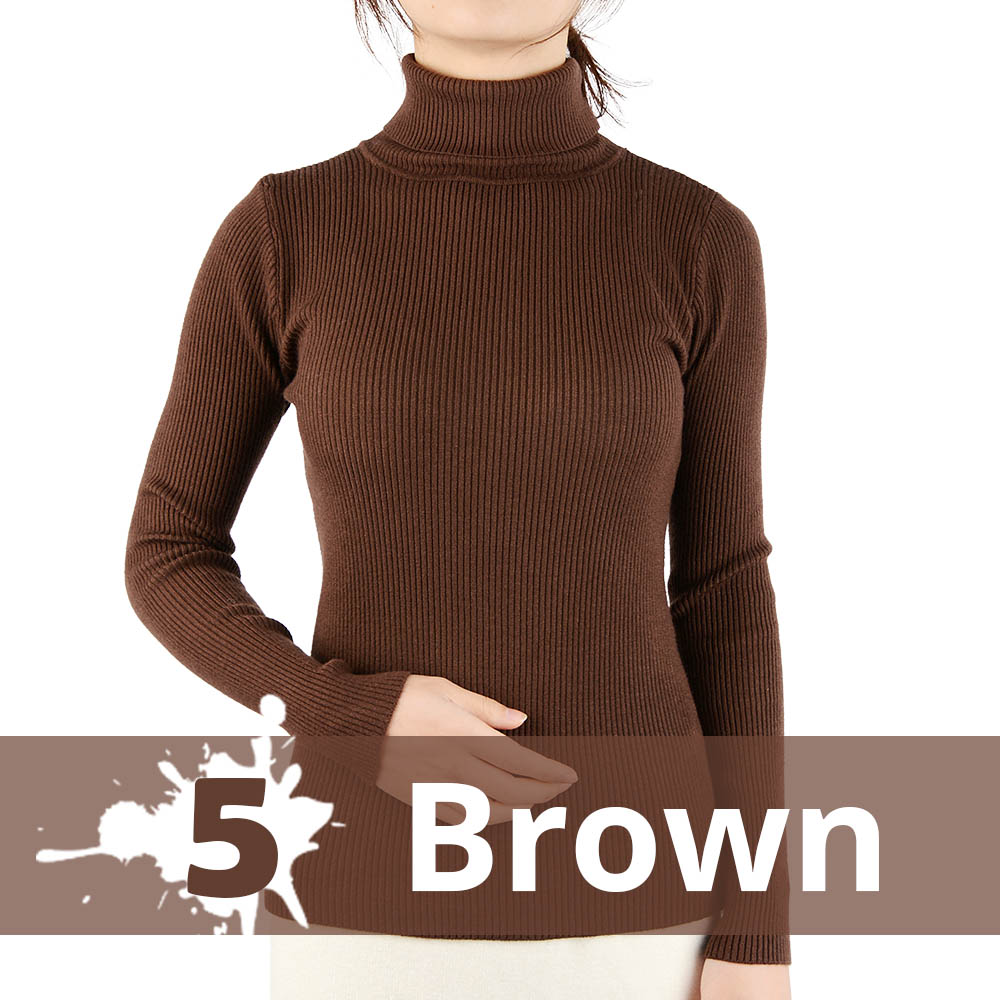 2021 Autumn Winter Thick Sweater Women Knitted Ribbed Pullover Sweater Long Sleeve Turtleneck Slim Jumper Soft Warm Pull Femme 19