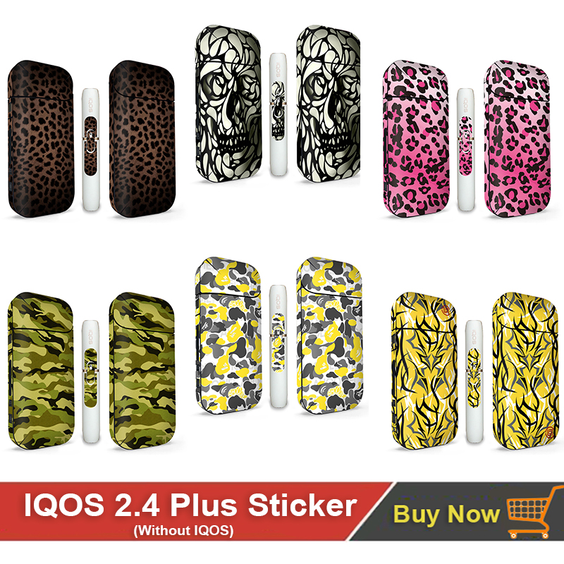 12 Colors Design Sticker For Iqos Protective Skin Sticker Cover Sleeve Sticker For IQOS 2.4 Plus