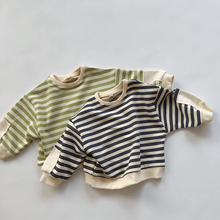 Boys T-Shirt Tees Toddler Fashion Tops Spring Bottoming Baby-Girls Autumn Infant Striped