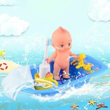Cute Mini Bathtub Bathroom Accessories Baby Doll Toothpaste Toothbrush Cup Towel Set For Kids Role Play Toy 72XC