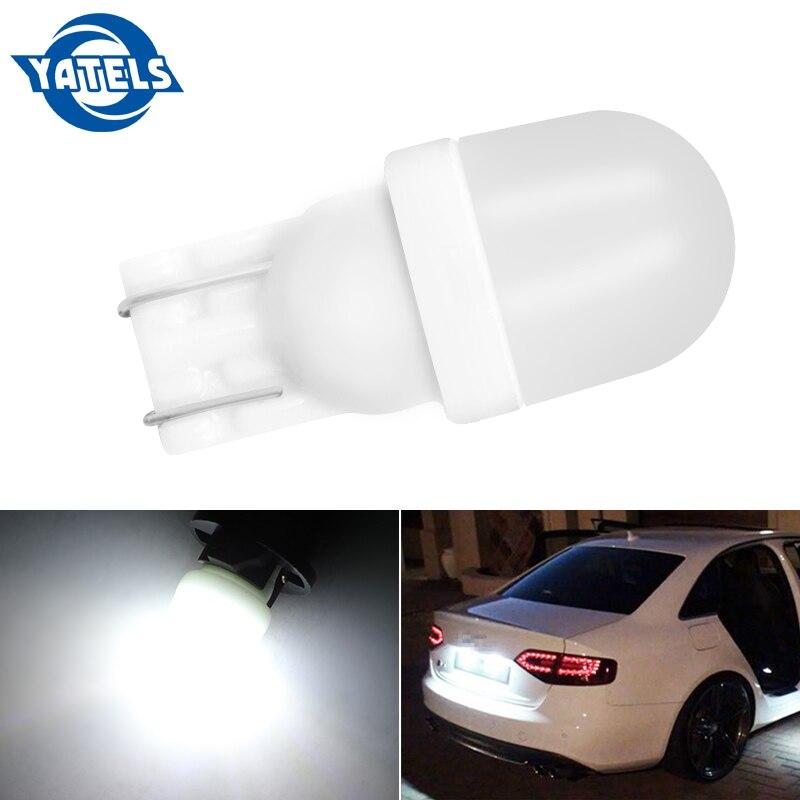 1PCS T10 LED W5W White Blue Red Yellow 1SMD Bulb Led Automotive 194 Auto Reading Light License Plate Lights Reading Lights 12v