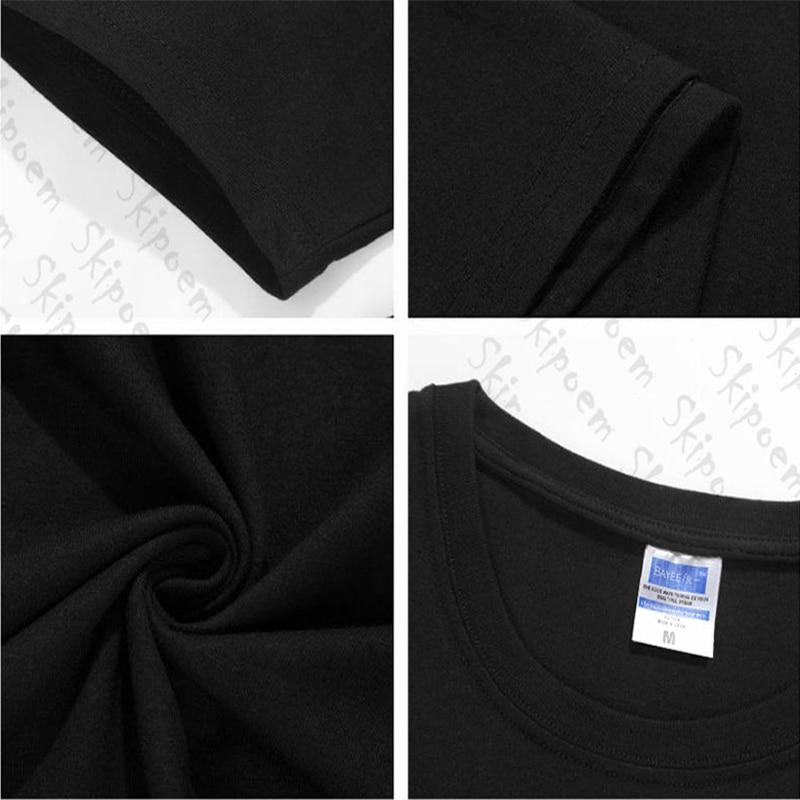 New Cotton Harajuku Aesthetics Tshirt Sexy Flowers Feather Print Short Sleeve Tops & Tees Fashion Casual Couple T Shirt 5