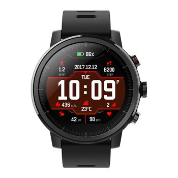 """1.34"""" 2.5D Screen Smart Outdoor Sports Watch GPS Heart Rate Waterproof Watch For Xiaomi Huami Amazfit Stratos Pace 2"""