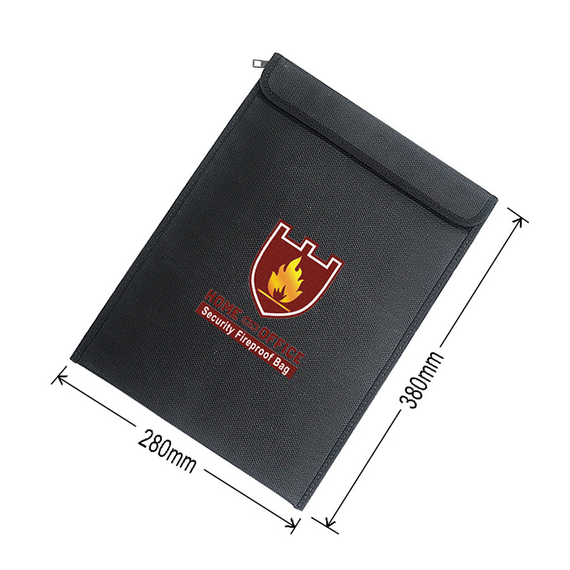 Fireproof Money Document Bag Water Resistant Cash Envelope Holder Protection Pouch Bags GV99