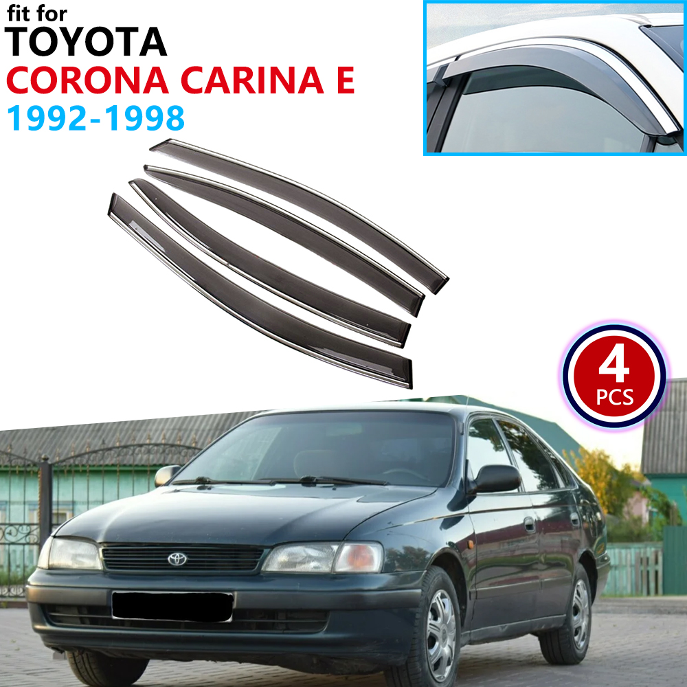 For Toyota Corona Carina E T190 1992~1998 Window Visor Vent Awnings Rain Guard Deflector Shelters Car Accessories 1995 1996 1997