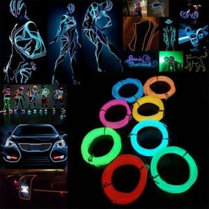 New EL Wire Neon RGB Color Lig