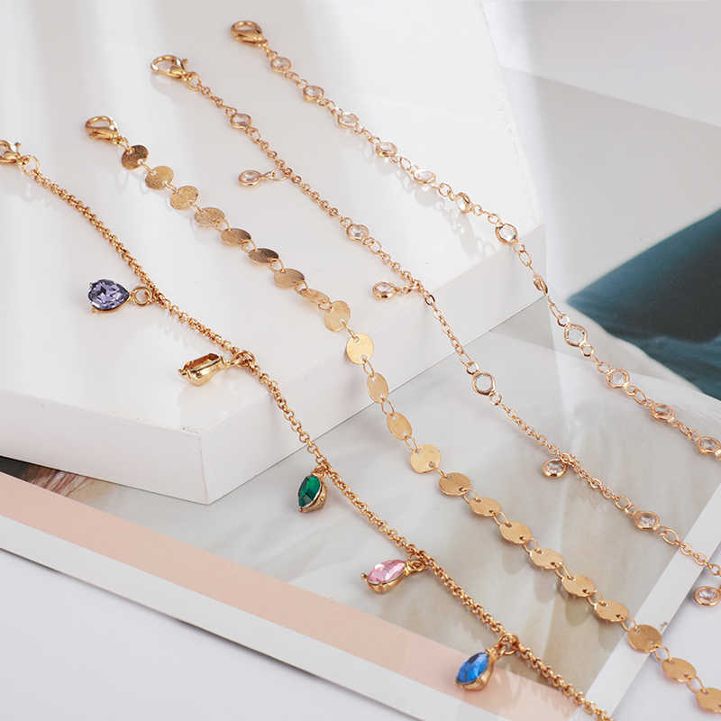 Bohème Bracelets & Bracelets ensemble coquille coeur femelle alliage géométrie Vintage breloque multicouche Bracelet pour femmes bijoux cadeau