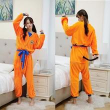 Peignoir Dragon Ball pour adultes et enfants, Costume Cosplay Son Goku, Robe de bain, vêtements de nuit, motif en peluche, pyjamas de dessin animé