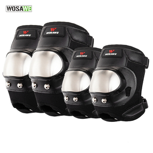 WOSAWE Stainless Steel Elbow Knee Pads A