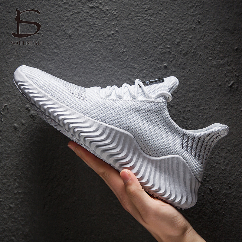 39-47 Plus Size Men's Four Seasons Korean Flying Weaving Casual Sports Shoes Comfortable Breathable Trend Lace Up Running Shoes