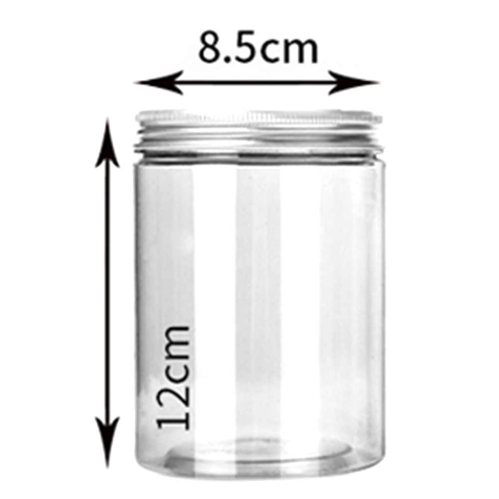500ml Clear Plastic Can Tin Pot Jar Container Empty Bottle For Tea Candy Nov HN