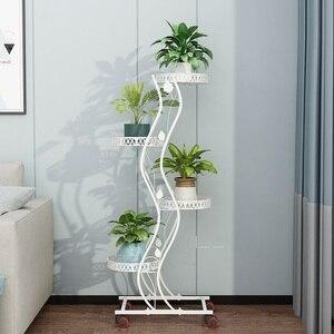 Image 3 - Salincagi Support Pour Plante Decoration Exterieur Outdoor Decor Mensole Per Fiori Flower Stand Iron Balkon Balcon Plant Shelf