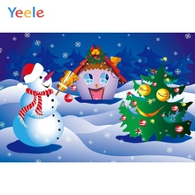 Yeele Christmas Backdrop Snowman Snow Winter Newborn Baby Birthday Party Custom Vinyl Photography Background For Photo Studio