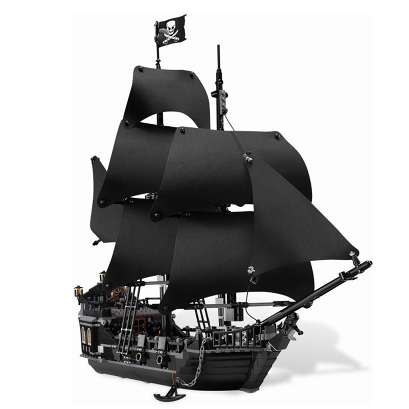 Movie Pirates Of The Caribbean The Black Pearl Jack Sparrow Figures Building Blocks Toys For Children