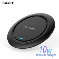 Wireless Charger for iPhone 11 Pro XS XR X 8 Plus 10W Qi Fast Wireless Charging Pad for Samsung S10 Note 9 Xiaomi Mobile Charger|Wireless Chargers| |  -