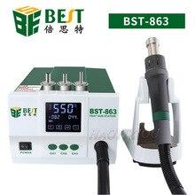 BST 863 1200W duża moc opalarka ołowiu FreeSmart sterowanie za pomocą ekranu dotykowego stała temperatura wyświetlacz LCD stacja rozlutownicy