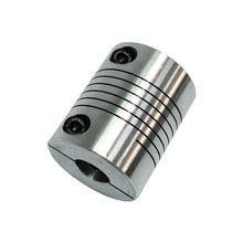 CNC Flexible Coupling Shaft Coupler Motor Connector Shaft Coupling Flexible Coupler for Motors Aluminum Alloy Diameter 20MM/25MM