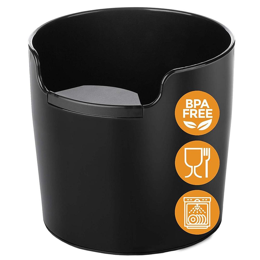 Çöp kutusu şok emici kahve öğütme ahşap kutu geri dönüşüm ABS atık depolama kolay temiz Bar aksesuar makinesi Barista