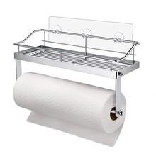 цена на Stainless Steel Bathroom Paper Phone Holder with Shelf Bathroom Mobile Phones Gold Towel Rack Toilet Paper Tissue Holder #BL4