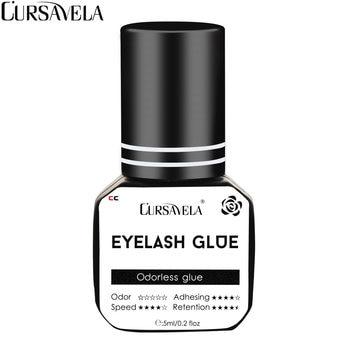 цена на CURSAVELA Extension Eyelash Glue Waterproof 5ML Fastest Dry Glue Low Irritation Flat Volume Lashes Glue No Odor Black EG002