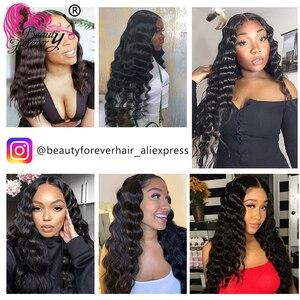 Image 5 - 美容フォーエバーブラジルディープウェーブヘアーバンドルと閉鎖フリーパート/中部100% レミー人間の髪は、高比