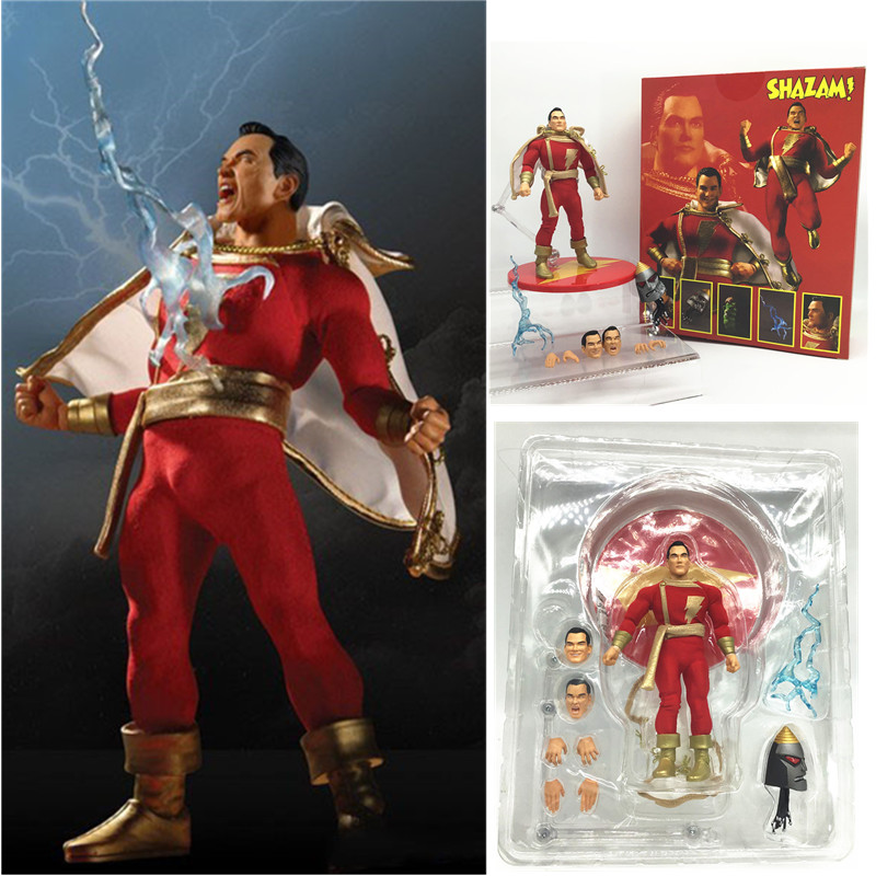 New Style 6inch Mezco Commoner Shazam Captain Marvel Superman PVC Action Figures Model Toys Gift Doll 15CM
