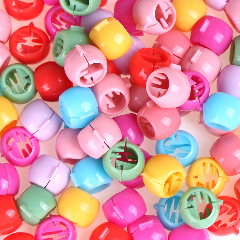 100pcs Hair Braids Maker Beads Headwear Cute Candy Colors Plastic Hairpins Hair Claw Clips For Women Girls Hair Accessories