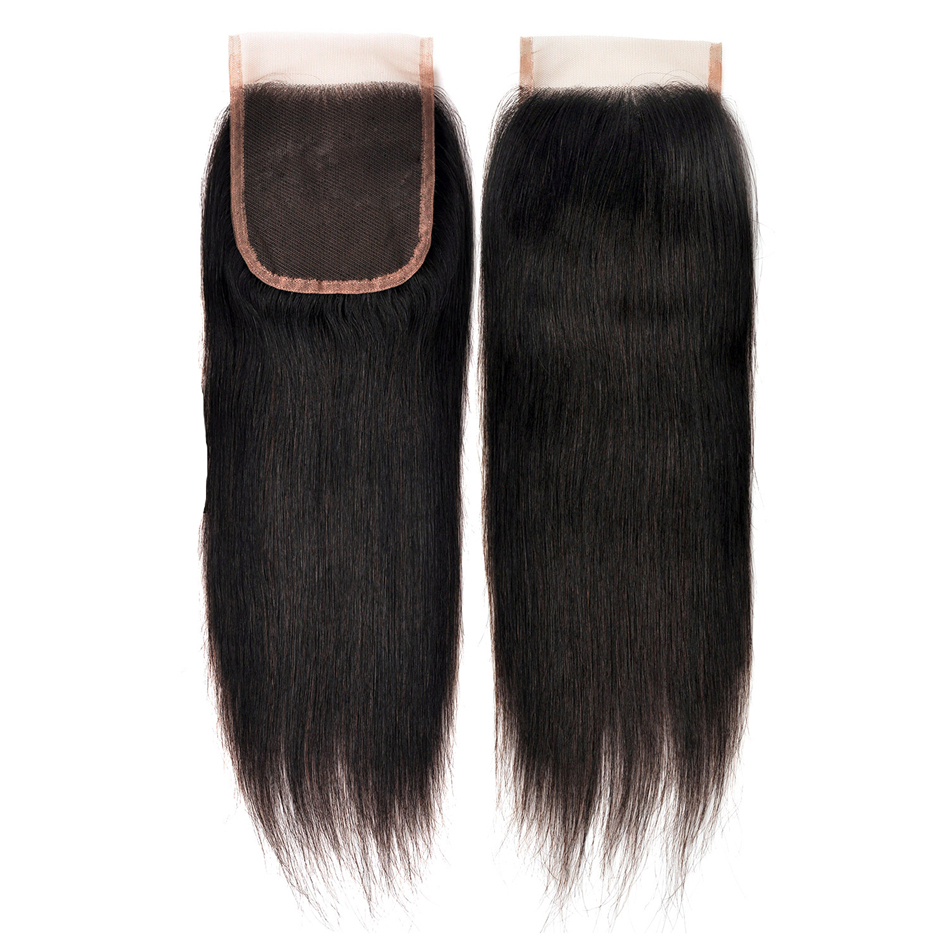 Image 5 - Indian Straight Human Hair Bundles With Closure 3 Bundles Deal With Closure 4 Pcs/Lot MIHAIR Bundles Remy Middle Part-in 3/4 Bundles with Closure from Hair Extensions & Wigs
