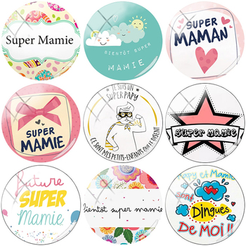 TAFREE Exquisite Super Mamie 12/15//16/18//20//25 mm Round Pattern Glass Cabochons Dome Charm Cameo Settings DIY Jewelry NT77