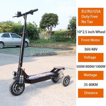 Patinete eléctrico para adulto, Scooter plegable de 36V, 48V, 500W/800W/1000W, con tres...