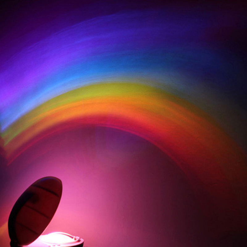 Rainbow Projection Lamp Colorful Atmosphere Night Lights for Bedroom Decoration Luces LED Para Habitacion Romantic Gift