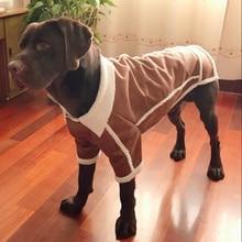 Новая Осенняя Большая одежда для домашних животных Флисовая теплая куртка для собак красивый самоед бордер колли 3XL 4XL 5XL 6XL 7XL