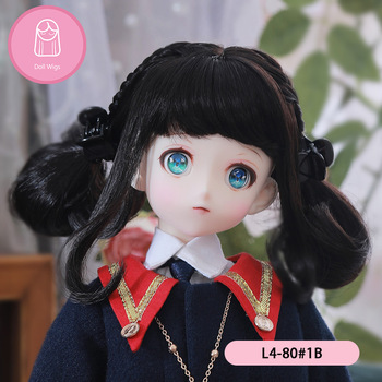 Wig For Doll BJD Wig 18-21cm Hair 1/4 high-temperature Natural wig Doll accessories MSD 1/4 bjd wig MNF 2