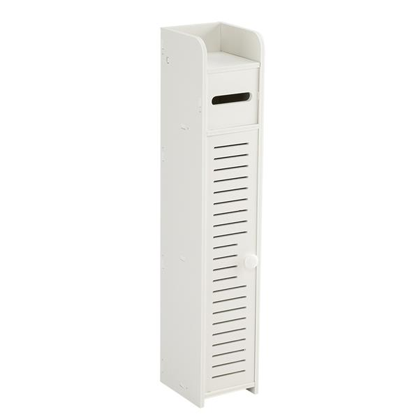 Paper Towel Storage  Narrow Cabinet 80cm Height Pvc 15.5x17x80cm Bathroom Furniture Vanity Cabinet Beside Toilet