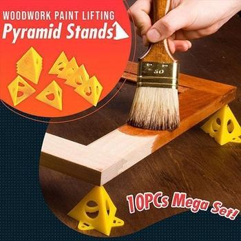 Trójkątne podkładki malarskie stolarka farba podnosząca piramidy stoi trójkątny statyw do obróbki drewna blok malarski akcesoria do obróbki drewna tanie i dobre opinie isfriday Woodworking Other CN (pochodzenie) Przypadku Narzędzia do obróbki drewna