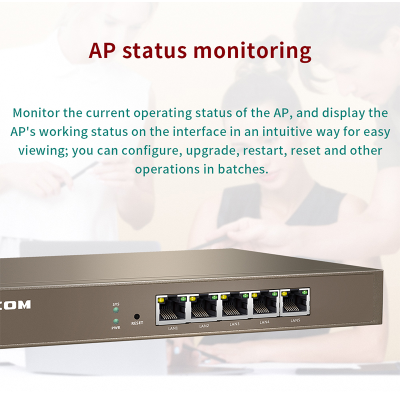 IPCOM AC1000 Gigabit AC Controller, AP Automatically Discover, AP and User Status Monitor,Centralized Management 2