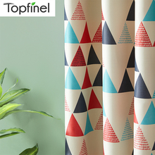 Topfinel Blackout Curtains Geometric For Living Room For Bedroom Kitchen Kid Room Modern Window Treatments Curtains