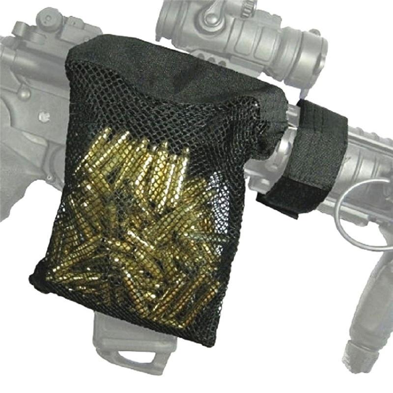Hunting Dump Pouch Rifle Brass Catcher AR-15 M4 Quick Unload Nylon Mesh Zippered Closure For 20mm Rail Mount Cartridge Shell Bag