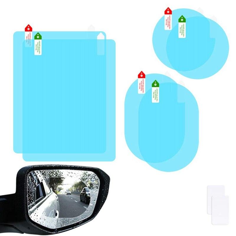 6Pcs Car Rearview Mirror Film Car Side Mirror Anti-Glare Film Nano Film Anti-Fog Rain Waterproof Membrane Protector Car Rearview
