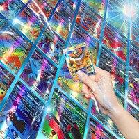 120 Uds inglés versión Pokemon tarjeta 115gx + 5mega brillante V Max equipo batalla carta tarjetas de juego de niños juguete #3