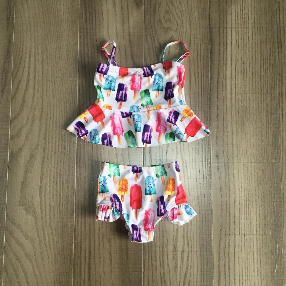 Baby Girls Swimsuit Ice Lolly Swimsuit Colorful Bathing Suit