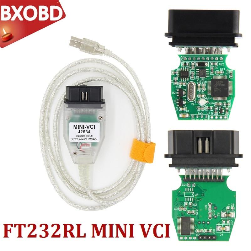 V14.30.023 mini vci j2534 obd2 tis techstream cabo de diagnóstico para toyota mini vci ft232rl obd2 scanner mini vci lexus interface