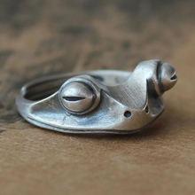 Богемное Винтажное кольцо в виде лягушки для женщин художественный