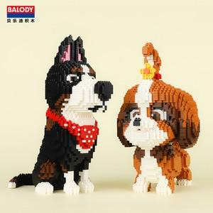 Image 1 - Balody Mini Blocks Pet Model Small bricks dachshund Dog Toy Assembly brinquedos Cute Rabbit Kids Gifts toys for children 16127