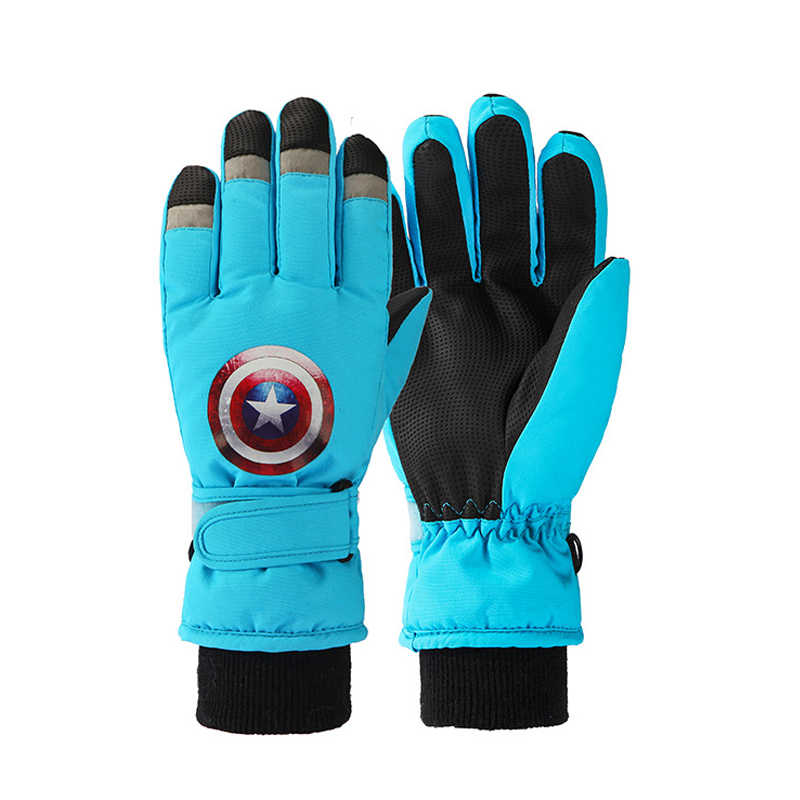 Children Windproof Waterproof Ski Gloves Snowboard Winter Warm Motorcycle Riding Touch Screen Ultralight Snow Sports Gloves