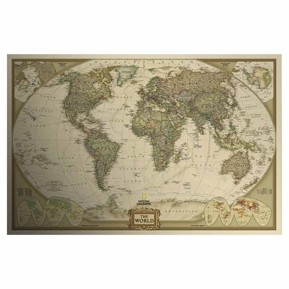 Retro Kraft posters decorative painting Vintage Retro Print Map Kraft Paper Antique Poster Wall Sticker Wall Decor